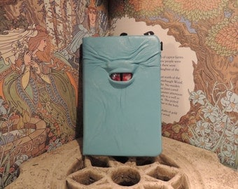 Mythical Beast Book (Sky Blue leather with Silver/Red eye)