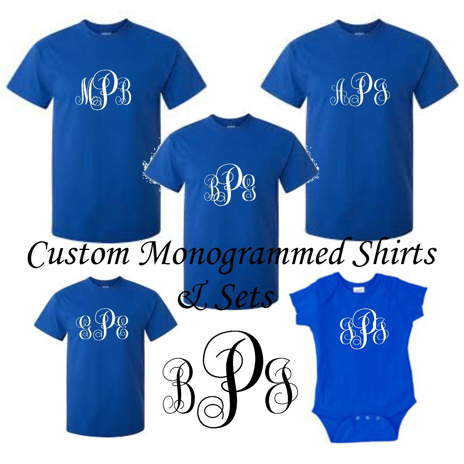 Monogrammed Family T Shirts Personalized Christmas Pajamas