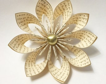 Personalized Anniversary Wallflower Paper Flower- custom, handmade, gift, wedding, gifts for her, origami, wedding decor, anniversary gift