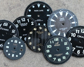 Wrist Watch Faces -- set of 8 -- D18