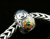 Babushka Doll Sterling  European Charm Bead BHB Fits Trollbeads and All Other Systems