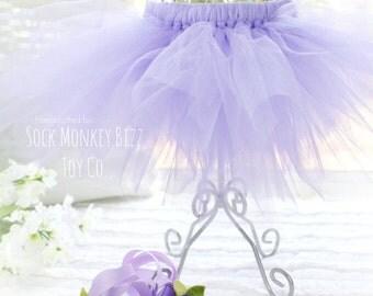 Lavender Doll Tutu and Headband for Sock Monkey Doll