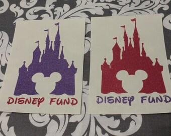 Glitter Disney Fund Decal, Disney, Mickey, Minnie, Princess, Disney World, Disney Land