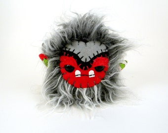 Stuffed Monster Toy - Free Domestic Shipping - Plush Monster - Stuffed Animal - Small Stuffed Animal
