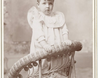 Vintage Photo, Cabinet Photo, Little Girl, Black & White Photo, Victorian Photo, Studio Portrait, Found Photo AUGUSTINE10015