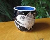 Fish Cup - ceramic shot glass espresso cup