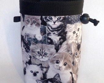 Climbing Chalk Bag, Rock Climbing Chalk Bag, Chalkbag, Gift for Climber, Kittens, Cats