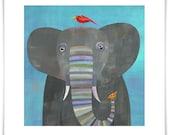 Colorful Elephant // Giclee Art Print