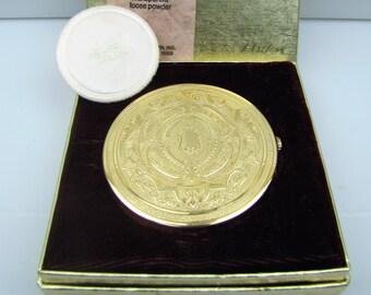 Elizabeth Arden Swiss Twist Compact Vintage Unused European Collection Antique Watch Design Powder Compact Cosmetics Gift for Her