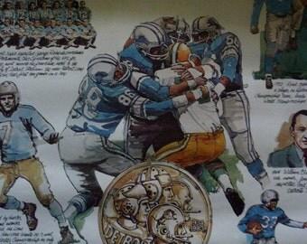 1983 Detroit Lions Pride 50 Years Poster Wm Klemm