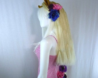 Horse / Pony Costume - Headpiece with Mane, and Tail