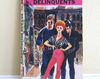 1959 Savage Delinquents Paperback by Alan Bennett, Pulp Art Cover