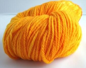 Tangerine hand dyed 100% merino DK weight yarn