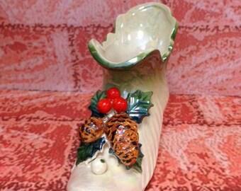 Vintage Christmas Shoe – Ceramic Shoe – Japan