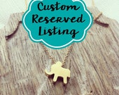 Reserved Listing for Lindsay // 2 Custom Gold Elephant Necklaces