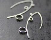 sterling silver dangle earrings - statement earrings - handmade by lolide