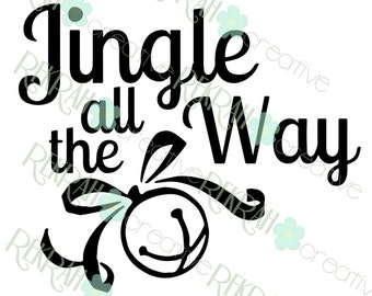 DIGITAL FILE ONLY Jingle All The Way Box Design for a 9x9 Shadow Box, png and svg files, download only