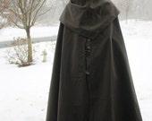 Hobbit Cloak with Separate Hood Dark Green Lord of the Rings Medieval