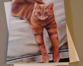 George the Cat art card b...