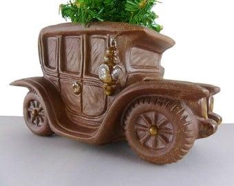 Vintage Antique Car Planter Desk Catch All Succulent Pot OMC Jalopy Car Salesman Dealership Office Decor Man Cave Automobile Decor Planter
