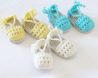 Crochet Pattern, Crochet sandals Pattern,Booties Crochet Pattern, Baby Shoe Pattern, Summer Pattern,  May sandals