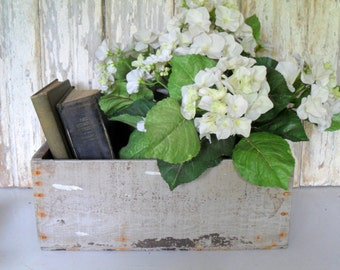 Vintage Rustic Wood Box, Large Wood Box, Wooden Crate