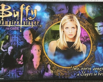 Vintage Buffy the Vampire Slayer Board Game 100% Complete 90s Rare