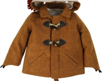 Kids Lion Coat// Rusty Lion Jacket //Limited Edition // Kids Outerwear // Handmade Child's Coat //Eco-Friendly Winter Coat