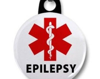EPILEPSY Red Medical Alert Symbol Zipper Pull Charm (Choose Size and Backing Color)