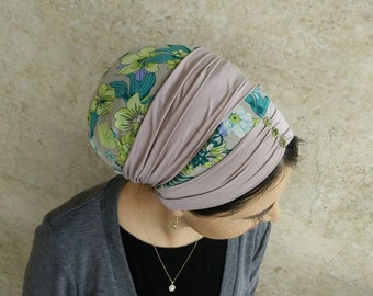 wrap around your head and tie in the back, lovely combination of lycra and chiffon, Jewish Tichel