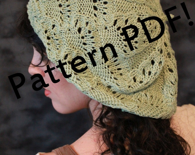 Fairy Lace Beret: PDF Knitting Pattern by The Sexy Knitter
