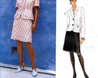 Vogue American Designer 1744 Sewing Pattern by Bill Blass for Misses' Top and Skirt- Uncut - Size 14, 16, 18