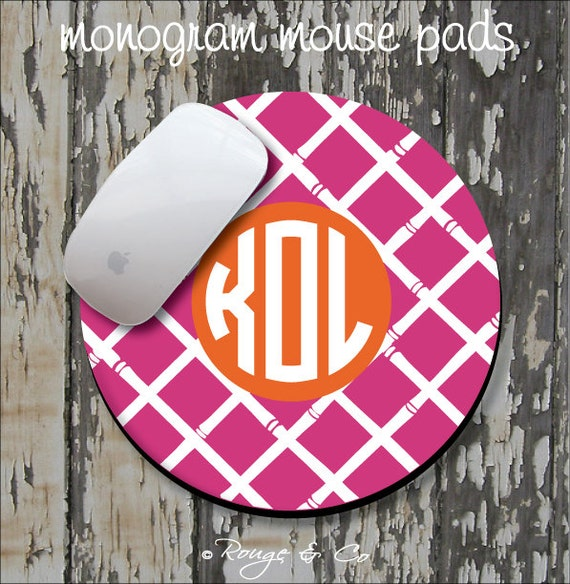 BAMBOO Personalized Mouse Pad, Personalized Mousepad, Monogrammed Mouse Pad, Monogrammed Mousepad, Custom Mouse Pad, Custom Mousepad