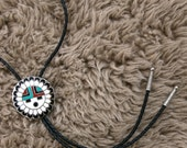 Vintage 1970's Zuni Sun God/ Face Bolo Tie Unisex Southwestern Retro