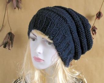 Chunky Slouchy Women Hat Beanie Knit Beret Oversized Hat Women Knit Hat Women Slouchy Hat Hand Knit Hat Hipster Hat Fall hat Dreadlocks Hat