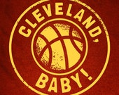 Wine & Gold CLEVELAND, BABY Kids Shirt/Onesie