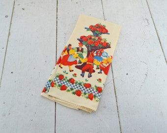 1950s Printed Kitchen Towel