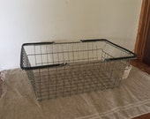 Fabulous VINTAGE wire shopping basket. Industrial decor. Great storage / organisation.