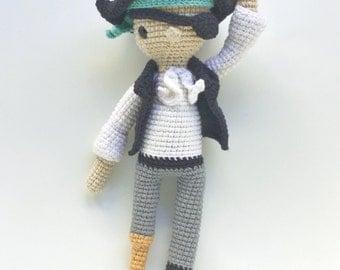 HANK THE PIRATE crochet pattern