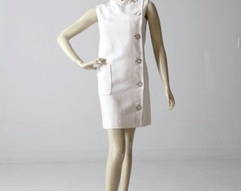 vintage 60s Marie McCarthy for Larry Aldrich mod shift dress