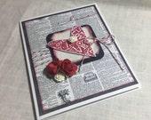 Valentine Card, Love Card, Hearts Card, Handmade Card, Wedding Card,  3D Card, Happy Valentines Day Card, Gift Card, Greeting Card
