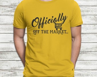 Bachelor Shirt, FREE SHIPPING, Officially off the market, Groom to be Shirt, Engagement Shirt, Groom Shirt, Bachelor Party Groom Tshirt