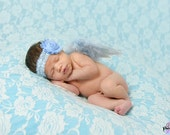 Newborn Angel Wings Light Blue Angel Wings And Headband Set Newborn Photo Prop Shabby & Lace Angel