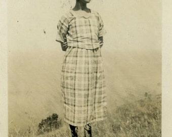 "Vintage Photo ""Tennessee Hill Beauty"" Snapshot Antique Photo Old Black & White Photograph Found Paper Ephemera Vernacular - 11"