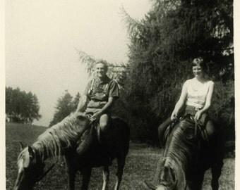 "Vintage Photo ""Horse Filled Date"" Snapshot Photo Old Antique Photo Black & White Photograph Found Photo Paper Ephemera Vernacular - 158"