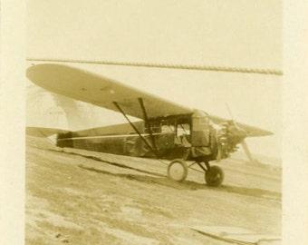 "Vintage Snapshot Photo ""Grounded Wings"" Airplane Plane Antique Photo Black & White Photograph Found Photo Paper Ephemera Vernacular - 186"