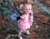 Pink FairyDust Fairy - OOAK Art doll Sculpted from Polymer Clay - Pure Art Sculpture