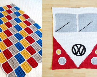 2 Instant Download Blanket Patterns