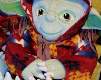 Yoda Plush Toy with Native Hand made robe