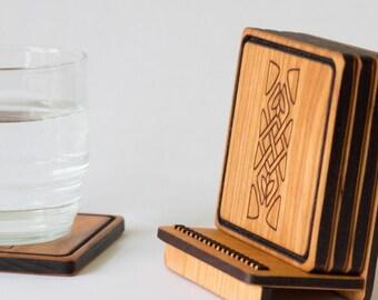 Wooden Coaster Set - Celtic